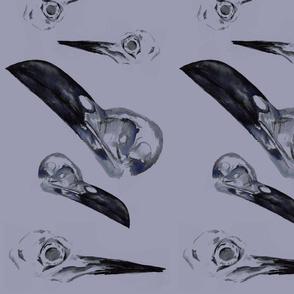Purple Bird Skulls