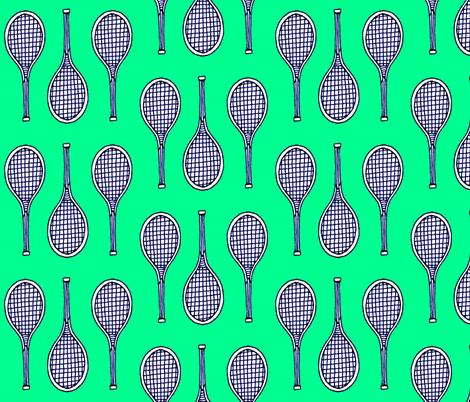 tennis_print fabric by katesbeads on Spoonflower - custom fabric