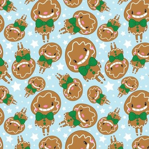 Christmas Crew - Gingerbread Man - Blue - Medium