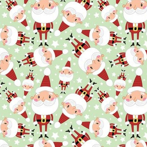 Christmas Crew - Santa - Green - Medium