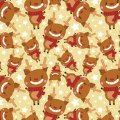 Christmas Crew - Reindeer - Yellow - Medium