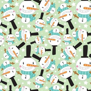 Christmas Crew - Snowman - Green - Medium