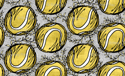 Yellow Tennis Balls on Linen