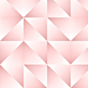 Pastel Pink Triangles Squares Pattern