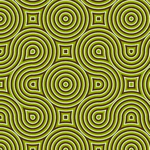 Optical Swirls olive,black,white,