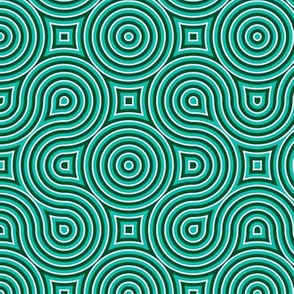 Optical Swirls teal,black,white,