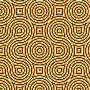 Optical Swirls golden