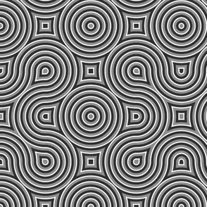 Optical Swirls gray,black,white