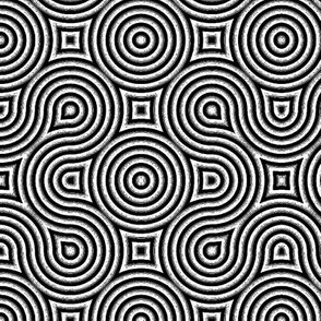 Optical Swirls Black and White