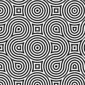 Optical Swirls black and white inverted