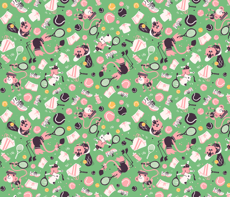 Animal Doubles fabric by alan_defibaugh on Spoonflower - custom fabric