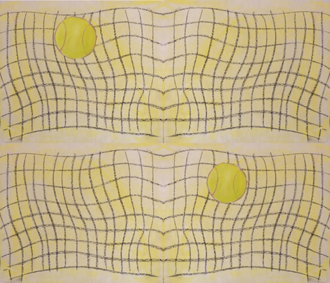 tennis_ball_and_net_copy fabric by lbushmanstudios on Spoonflower - custom fabric