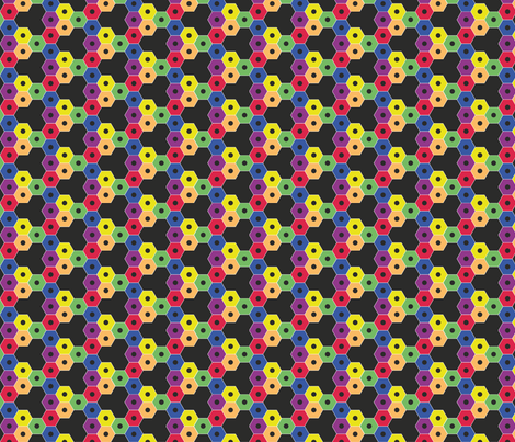 checks_of_pencils_black fabric by wextverk on Spoonflower - custom fabric