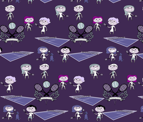 Doubles anyone? fabric by yourfriendamy on Spoonflower - custom fabric