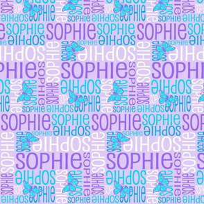 Personalised Name Design - Butterfly Purples and Blues