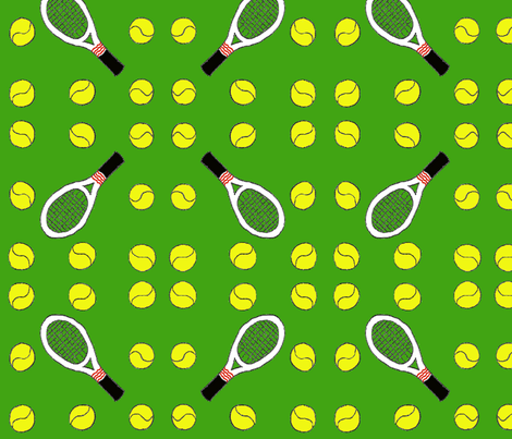 Tennis match fabric by zuzana_kokkinou on Spoonflower - custom fabric