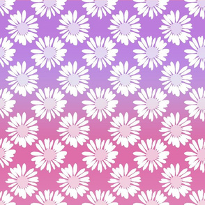 Purple Gradient Flowers
