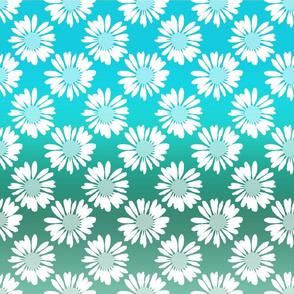 Blue Gradient Flowers