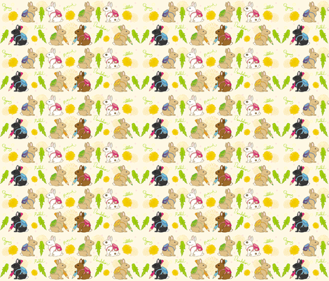 Rabbits have Rucksacks fabric by jammy_fox on Spoonflower - custom fabric