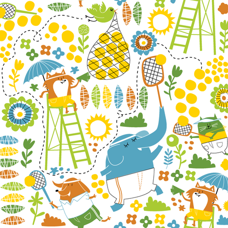 tennis fabric by laura_the_drawer on Spoonflower - custom fabric