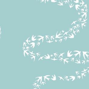 Beach Bird Stripe Squiggle