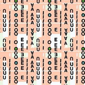 Vowels pink