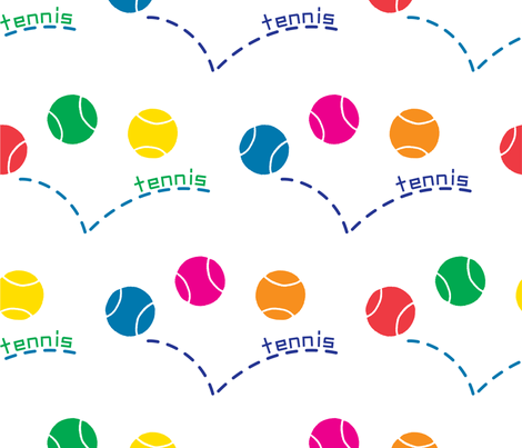 Tennis Love fabric by andibird on Spoonflower - custom fabric