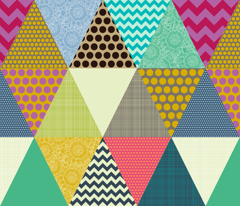 New York Beauty triangles large fabric by scrummy on Spoonflower - custom fabric