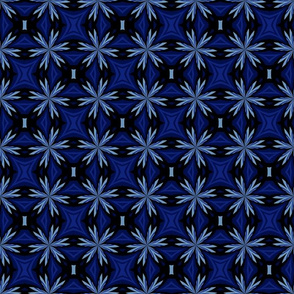 Blue Kaleidoscope Flowers