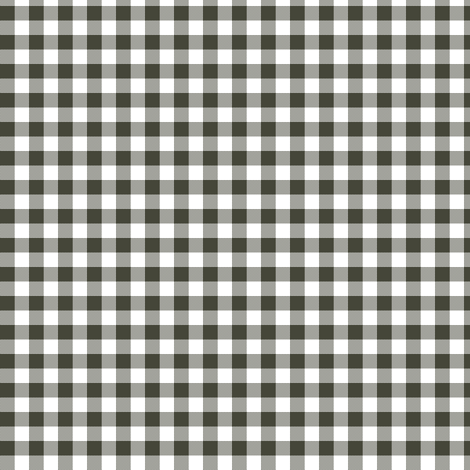 Khaki and white gingham fabric by weavingmajor on Spoonflower - custom fabric
