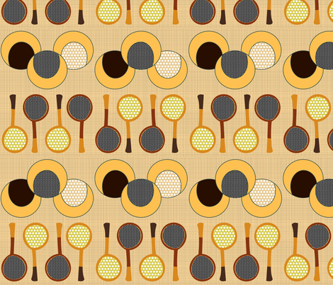Vintage Tennis Racquets  fabric by vanillabeandesigns on Spoonflower - custom fabric