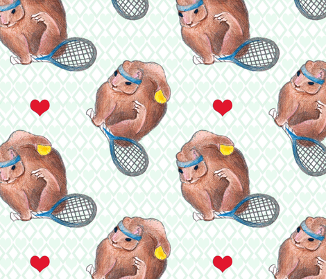 Work That Headband Little Squirrel fabric by scrappycat on Spoonflower - custom fabric