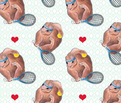 Work That Headband Little Squirrel fabric by lisa_travis on Spoonflower - custom fabric