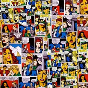 Vintage Romance Comics Collage