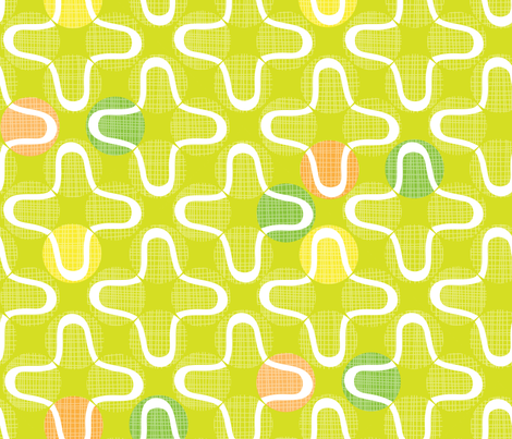 retro tennis balls fabric by bubbledog on Spoonflower - custom fabric
