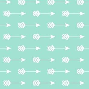 Arrow Sideways in Seafoam