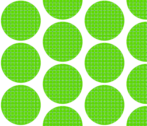 Tennis Circle fabric by melissahurd on Spoonflower - custom fabric