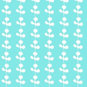 Lucky Clover on Bright Aqua
