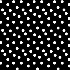 Polka Dots - Black and White by Andrea Lauren