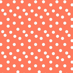 Polka Dot - Carrot Orange
