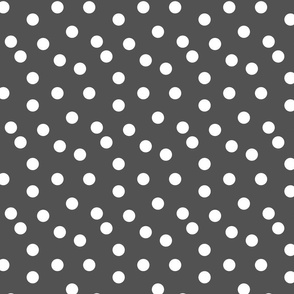 Polka Dots - Charcoal by Andrea Lauren