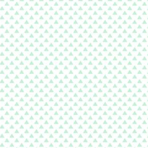 triangles ice mint green