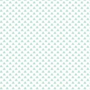 triangles mint green