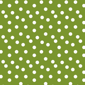 Polka Dots - Moss Green by Andrea Lauren