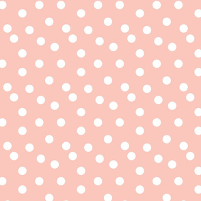 Polka Dots - Pale Pink by Andrea Lauren