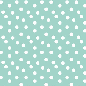 Polka Dots - Pale Turquoise by Andrea Lauren
