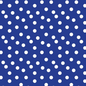 Polka Dots - Cobalt Blue by Andrea Lauren