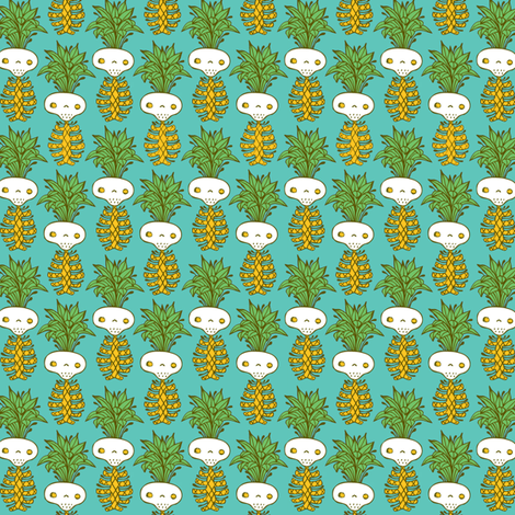 skelly pineapples fabric by skellychic on Spoonflower - custom fabric