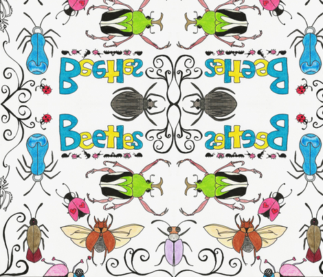 beetles fabric by checcola on Spoonflower - custom fabric