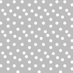 dot // grey dots spots polka dot gray dots baby nursery simple coordinate grey dots fabric
